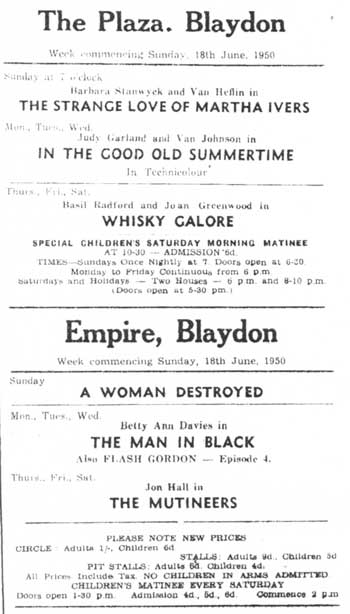 Blaydon Courier 18 June 1950